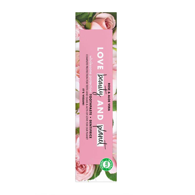 Love Beauty and Planet Wholesome Protection Rose and Aloe Vera Toothpaste 75ml