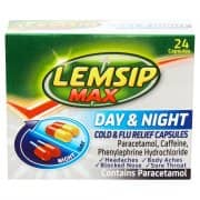 Lemsip Max Day & Night Cold & Flu - 24 Capsules