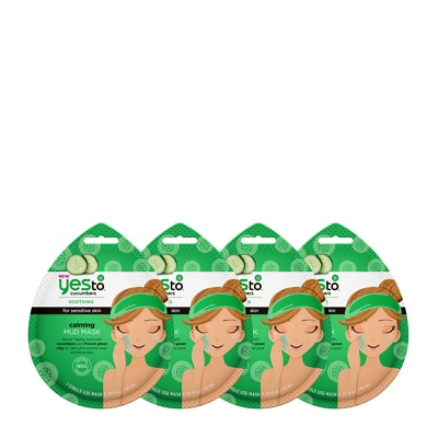 Yes To Cucumbers Calming Mud Mask 4 Pack