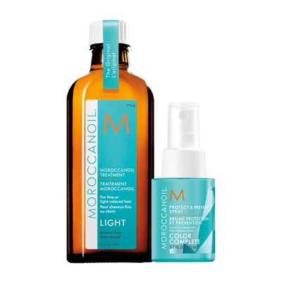 Moroccanoil Treatment Light 100ml with Free Protect & Prevent Spray 50ml