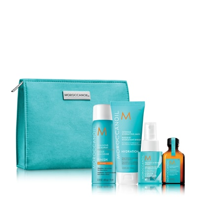 Moroccanoil Style Travel Kit with Free Hydrating Styling Cream and Bag