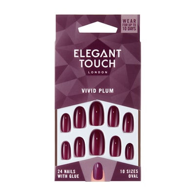 Elegant Touch Core Colour Nails Vivid Plum