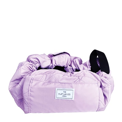 The Flat Lay Co. Open Flat Makeup Bag in Lilac