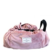 The Flat Lay Co. Open Flat Makeup Bag in Pink Velvet