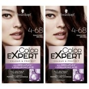 Schwarzkopf Color Expert Permanent Hair Dye 4.68 Mahogany Brown Set x2
