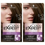 Schwarzkopf Color Expert Permanent Hair Dye 6.0 Natural Light Brown Set x 2