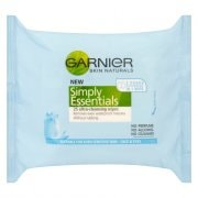 Garnier Simply Essentials Cleansing Face Wipes - 25 Wipes