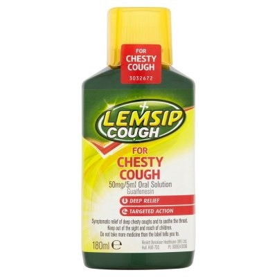 Lemsip Cough For Chesty Cough 180ml