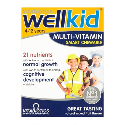 Vitabiotics Wellkid Smart Chewable Multi-Vitamin 30 Tablets