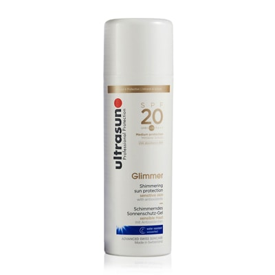 Ultrasun Glimmer Protection Solaire Peaux Sensibles SPF 20 150ml