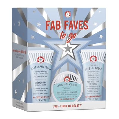 First Aid Beauty FAB Faves To Go Nettoyant & Crème Ultra Réparatrice Coffret