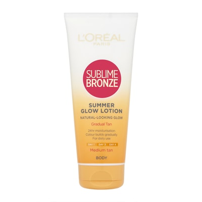 L'Oréal Paris Sublime Bronze Gradual Tan 24hr Moisturising Lotion - Medium Skin 200ml