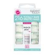 Elegant Touch Totally Bare Faux Ongles - Bare Stilletto Coffret