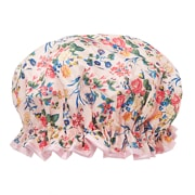 The Vintage Cosmetic Company Bonnet De Douche Fleurs Rose Satin